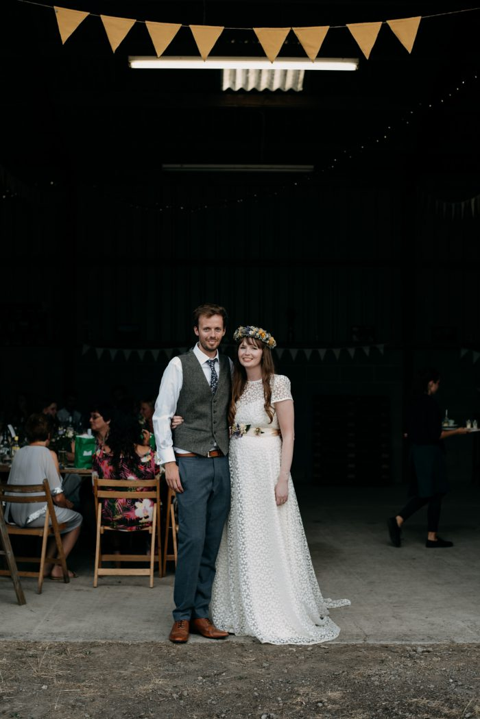 Tilly and Stuart at Festival Wedding in Somerset