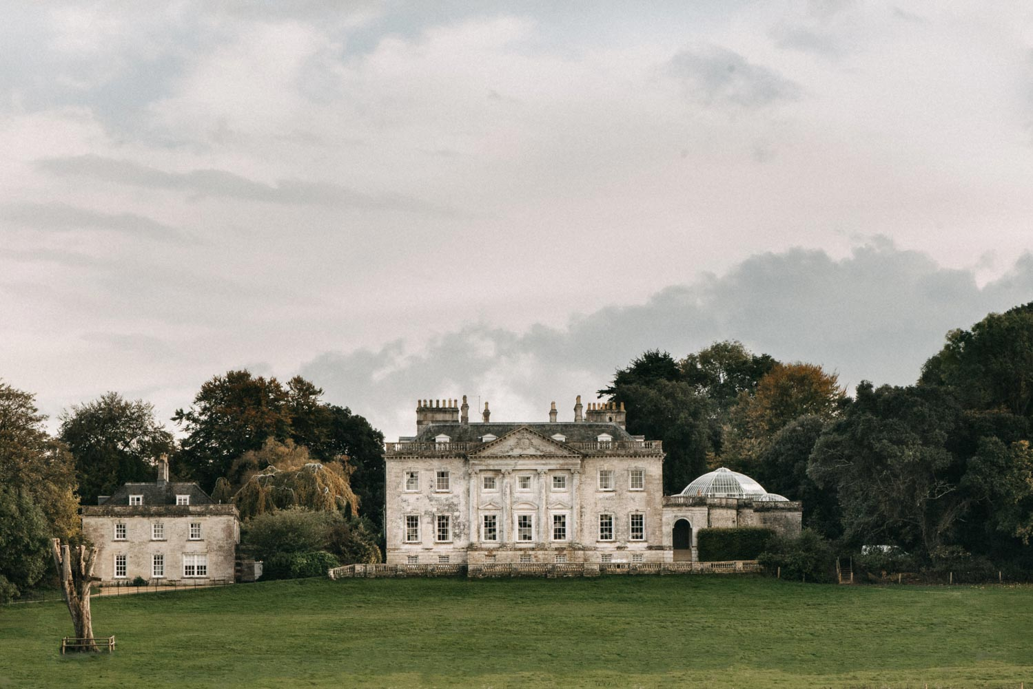 Front of Came House Wedding Venue in Dorset by Sophia Veres Photography